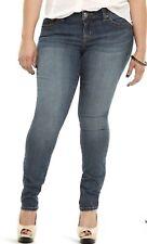 Torrid Skinny Jeans Premium Stretch Size 18 Tall Light Denim Wash Mid Rise EUC