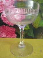 Vintage 1930S Champagne Coupe with a Diamond Cut Stem .