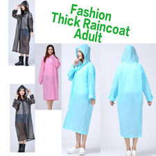 Durable Thicken Portable Raincoat Waterproof Reusable Rain Poncho Hood Unisex