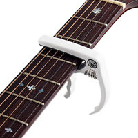1 Pc Guitar Tuner Durable Quick Change Clip-on Capo for Violin Guitar Ukulele