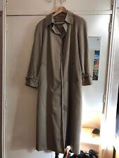 Aquascutum Womens Size 12 Beige Full Length Regent Trench coat / Mac / Macintosh