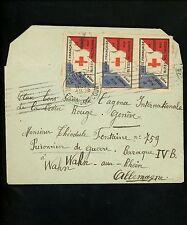 Postal History France Red Cross Seal Label WWI POW 1918 Paris Wahn Germany