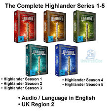 The Complete Highlander Series 1-5 DVD Collection Season 1 2 3 4 5  Adrian Paul
