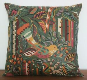 Vintage Collier Campbell Birds and Bees fabric cushion cover