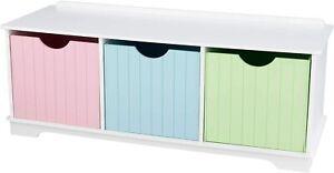 KidKraft 14565 Nantucket Aufbewahrungsbank aus Holz Pastellfarben Schubladen H17