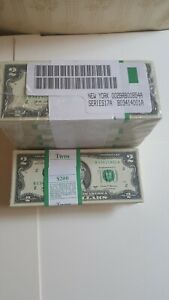 100 two dollar bills New $2 NOTE CONSECUTIVE, UNCIRCULATED 2017