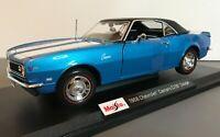 Maisto 1968 Chevrolet Camaro Z/28 Coupe Blue 1:18 2020 Special Edition  #31685