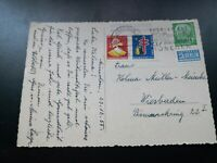 AK: Mi-Nr. 183, 10 Pfennig, + 2 Tuberkolosemarken/Weihnachten 1955 !!!
