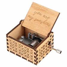 Hztyyier Carillon in Legno Carillon Intagliato Meccanismo Vintage (E8S)