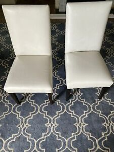 Custom Made Leather Dining Chairs (2 In Set).