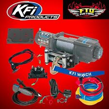 KFI U4500W 4500lb Winch Kit ATV/UTV Steel Wire Rope Cable