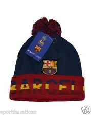 NEW SEASON FC BARCELONA BEANIE W/ POM OFFICIAL WINTER SKULL CAP AUTHENTIC