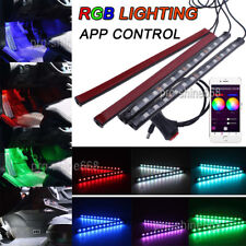 RGB Color Bar Glow Dash Footwell Interior Light 48 LED Strip SMD APP Control