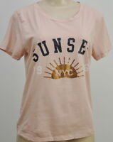 J. Crew NYC Sunset Tee Size Small Blush Pink Gold Foil Graphic Shirt Women's