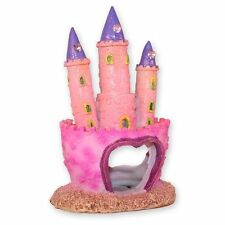 Pink Princess Castle Fish Cave Aquarium Ornament Fish Tank Decoration