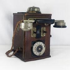 Antique Rotary Telephone Old Wood Telephone Original Vintage Item