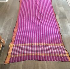 Purple Sari Fabric 16ft Cotton Party Wear  Saree