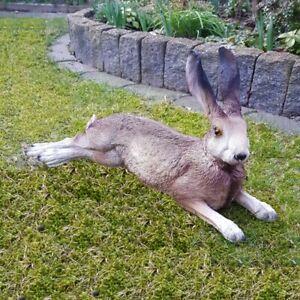 Hase Osterhase Gartenfigur bruchfest Deko Tier Lebensecht Kaninchen