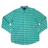 Tommy Hilfiger Button Down Shirt Men's Size XL Plaid Long Sleeve Collared Cotton