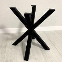 "Coffee Table Base Spider Metal Steel Legs Frame 18"" (45cm) height"