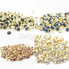 """5mm Leather Crafts 5105 25 Metal ROUND FLAT SINGLE SIDED Rivet Studs 3//16/"""""""