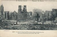 SAN FRANCISCO CA-St. Patrick's Church and Mission Street Destroyed by Earthquake