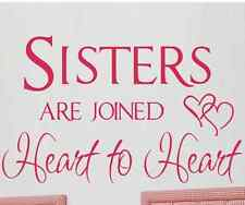 Sisters Vinyl wall decals sticker for girls room decor Default Color Hot Pink