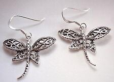Dragonfly Filigree Dangle Earrings 925 Sterling Silver Corona Sun Jewelry