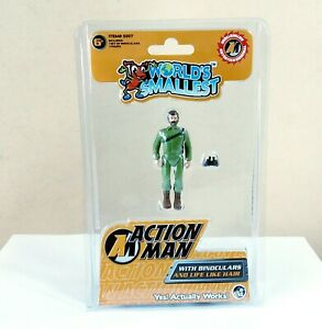 World's Smallest- Action Man With Binoculars And Life Like Hair Brand New