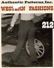1970's VTG Authentic Western Pants Pattern 212 Size 10 UNCUT