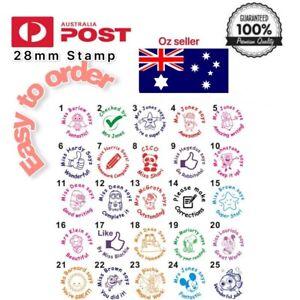 Custom School Teacher Self Inking Stamp Personalise Reward Homework Feedback