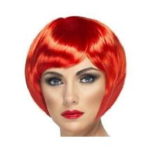 Ladies Fancy Dress Bob Wig Babe Red Hen Party New by Smiffys.