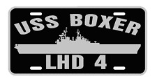 USS BOXER LHD 4 License Plate Military sign USN 001