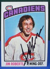 JIM ROBERTS signed 1976-77 Topps card # 119 MONTREAL CANADIENS