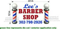 "12"" x 22""  VINYL DECAL FOR BARBER SHOP HAIR DRESSER WALL OR WINDOW NEW! CUSTOM"