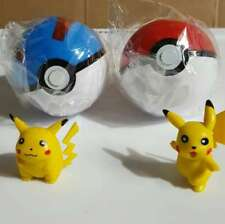 Pokemon TWO Pokeball Pop-up Plastic Ball PLUS TWO Free Pikachu Figure Gift