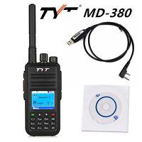 TYT US PLUG MD-380 UHF 400-480MHz DMR Digital Mobile Two Way Radio Walkie Talkie