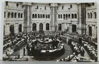 Washington DC RPPC The Library of Congress Main Reading Room Photo Postcard K14