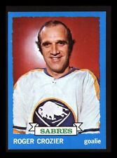 "1973-74 TOPPS ""ROGER CROZIER"" BUFFALO SABRES #108 NEAR MINT+ (COMBINED SHIP)"