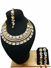 New Indian Bollywood Style Ethnic Bridal Wedding Fashion Jewelry Necklace Set