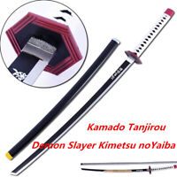 Kamado Tanjirou Weapon Demon Slayer Kimetsu noYaibaWood Handheld Prop Sword+Belt