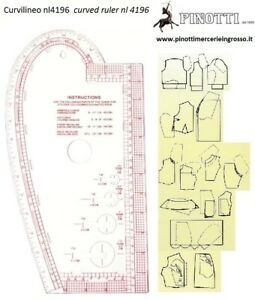 CURVILINEO PROFESSIONALE PER SARTORIA CM 35X19 FRENCH CURVE NL4196 CURVILINEE