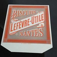Etiquette Ancien LU Habillage Boîte Lefèvre Utile Biscuits Antique Label