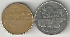 2 COINS from the NETHERLANDS - 1 & 5 GULDEN (BOTH DATING 1988)