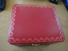 Cartier Paris COWA0043 Luxury Red Leather Watch Box Only