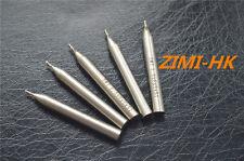 (SWT) 5pcs  1.5mm 3Flute HSS & Aluminium End Mill Cutter CNC ( 1.5×6×4×51mm×3F )