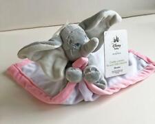 Disney Store Disney Baby Dumbo Elephant Security Blanket Lovey White w/Pink NWT