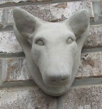 Concrete Bull Terrier Wall Hanger Statue Or Use As A Monument