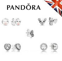 New Pandora Authentic Sterling Silver ALE S925 Stud Earrings Genuine +Free Pouch