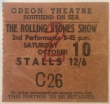 Rolling Stones Original Genuine Used Concert Ticket Odeon Theatre Southend 1964